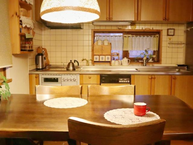 キッチンテーブルの照明