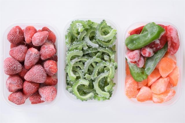 食材を刻んで冷凍保存。