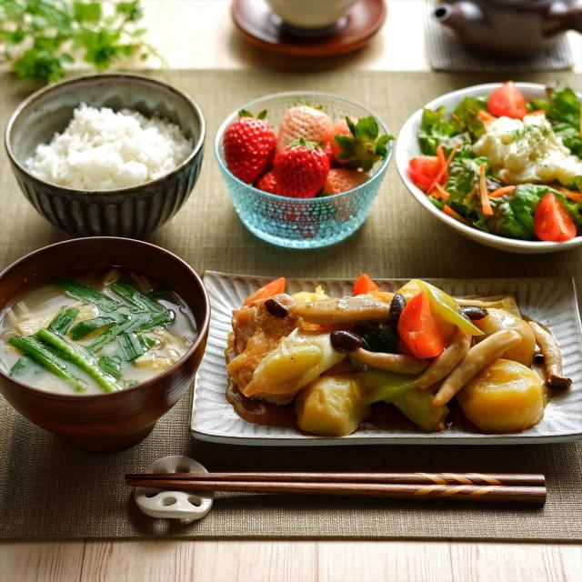 和食の家庭料理。