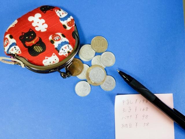 家計の支出は少額でもメモを実践。