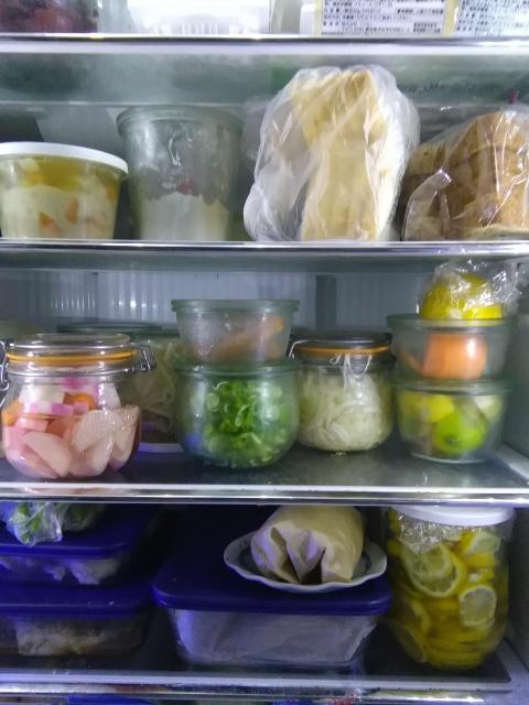 冷蔵庫で野菜の保存